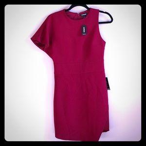Express Asymmetrical Red Dress
